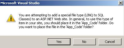 Save to App_Code folder
